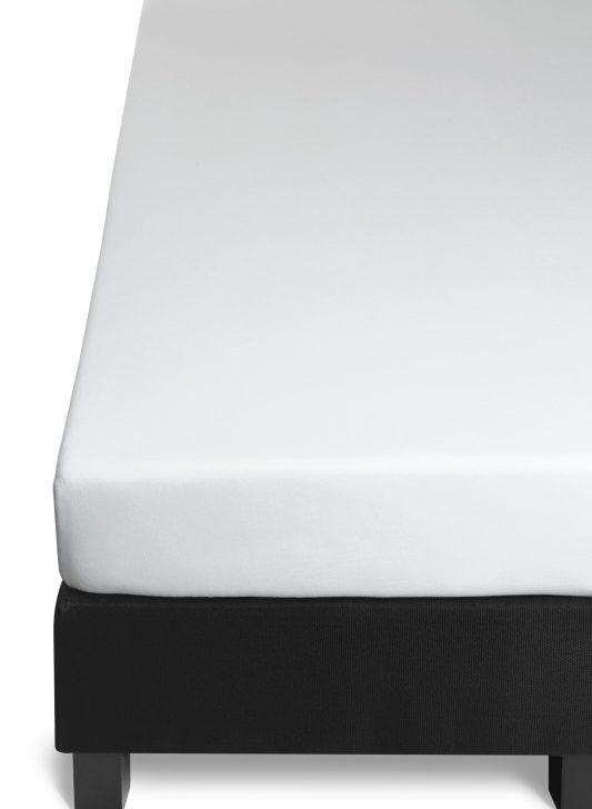 Cearceaf alb pat bumbac elastic 160x200 cm Jersey HL White