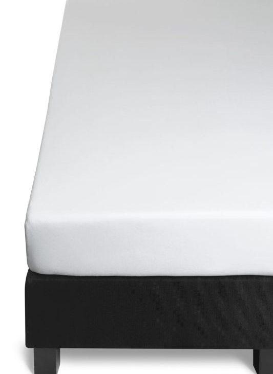Cearceaf alb pat bumbac elastic 180x200 cm Jersey HL White