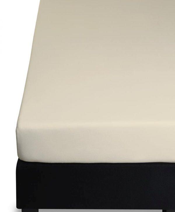 Cearceaf bej inchis pat elastic 160x200 cm Jersey HL Sand