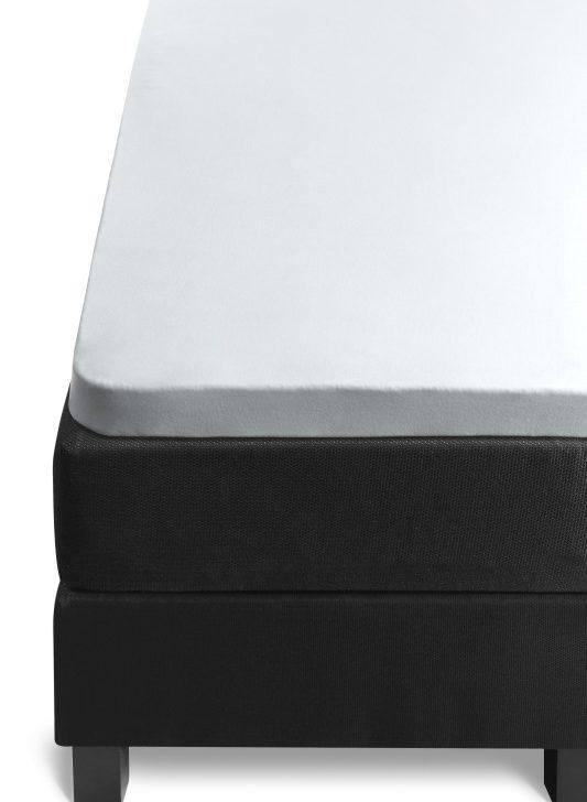 Cearceaf de pat alb cu elastic 80/90x200 cm Percal 10