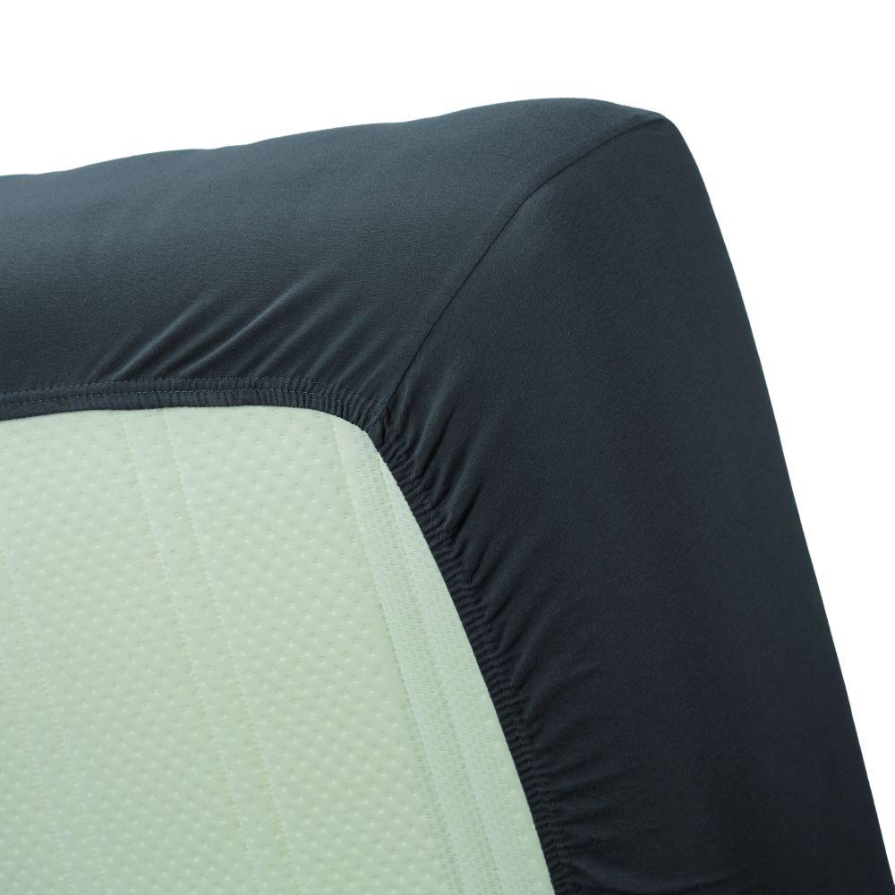 Cearceaf pat gri inchis pat bumbac cu elastic 160x200 cn Jersey HL Anthracite