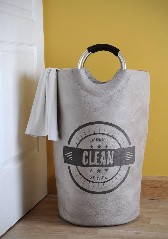 Cos rufe gri deschis Laundry Gris 63x60x33 cm