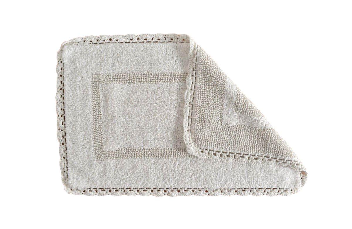 Covoras alb baie crosetat 401 Crochet 00 Blanco 50x80 cm