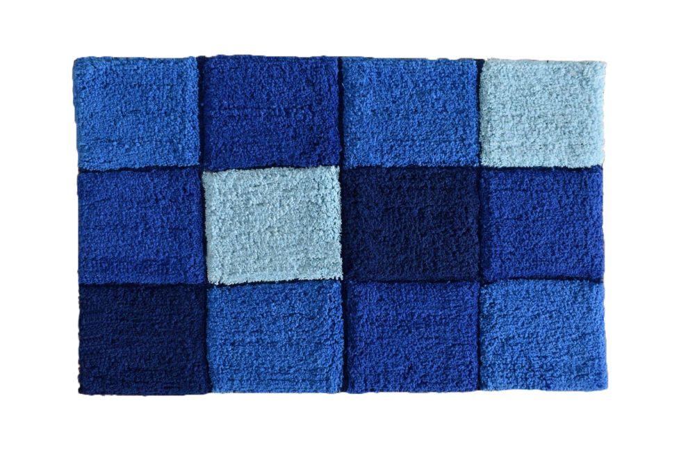 Covoras baie albastru bumbac 403 Gres 45x70 cm