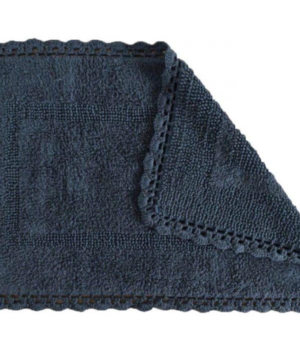 Covoras baie gri inchis baie 401 Crochet 15 Gris 50x80 cm