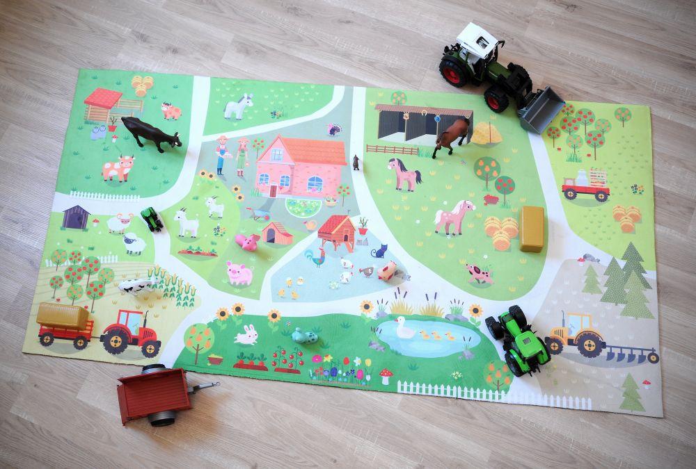 Covoras joaca copii Farmhouse 80x150 cm