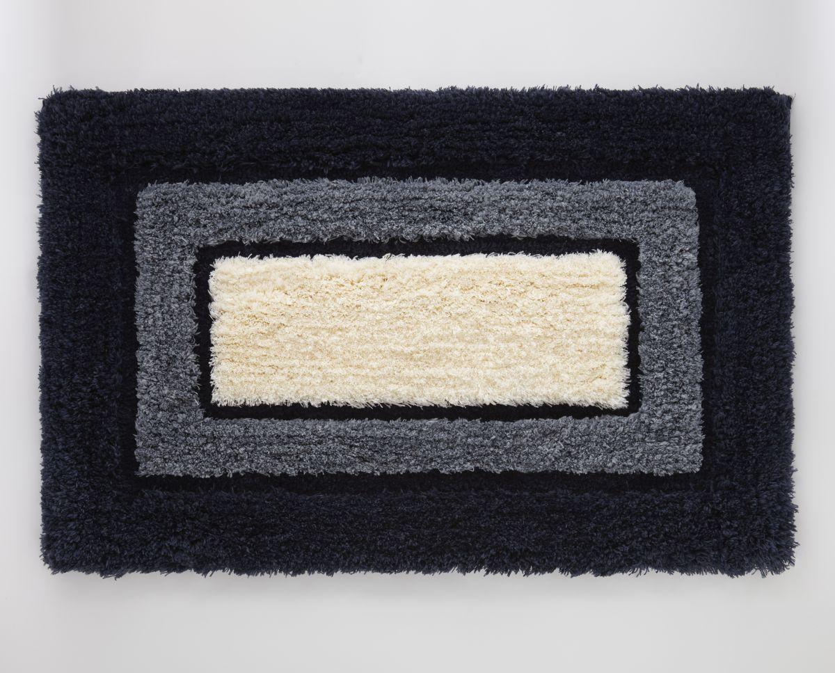 Covoras pufos baie albastru 404 Kyoto 50x80 cm