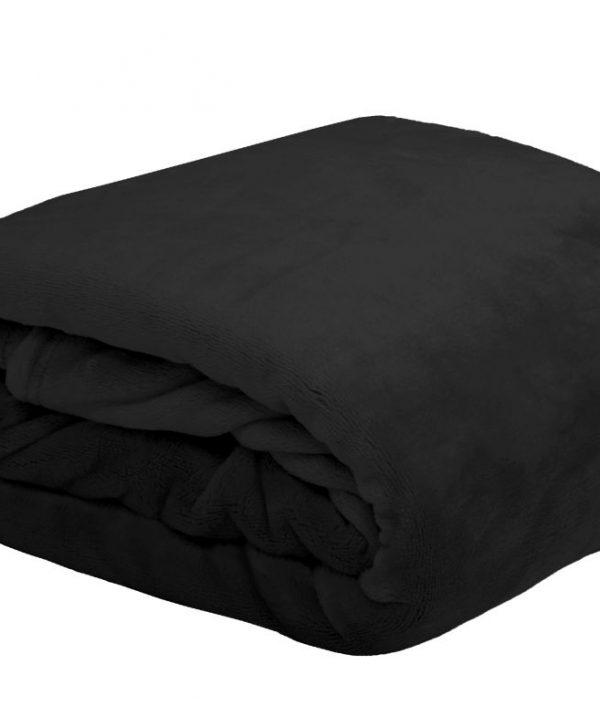 Cuveertura neagra pat pufoasa 5792 Doudou Noir 180X220 cm