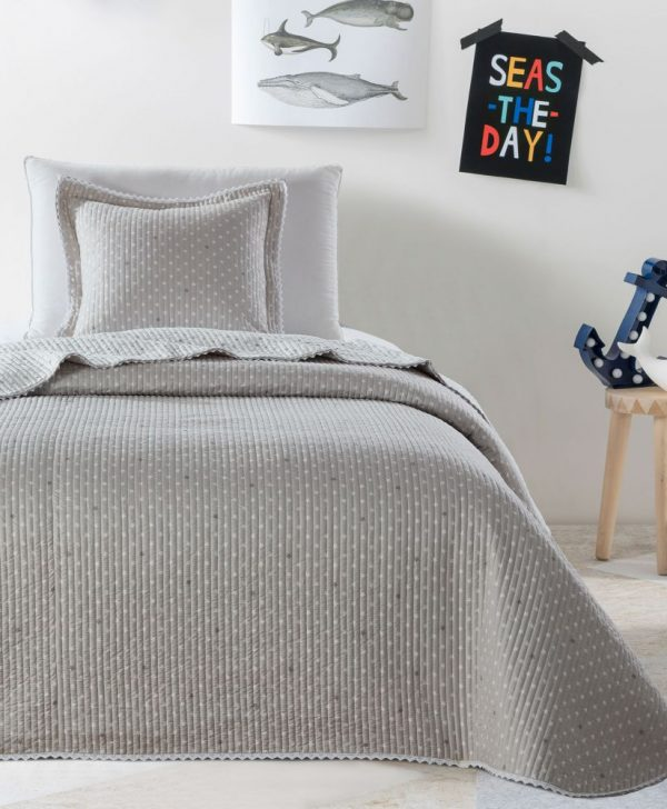 Cuvertura bej pat copii 7844 Stella 180x270 cm
