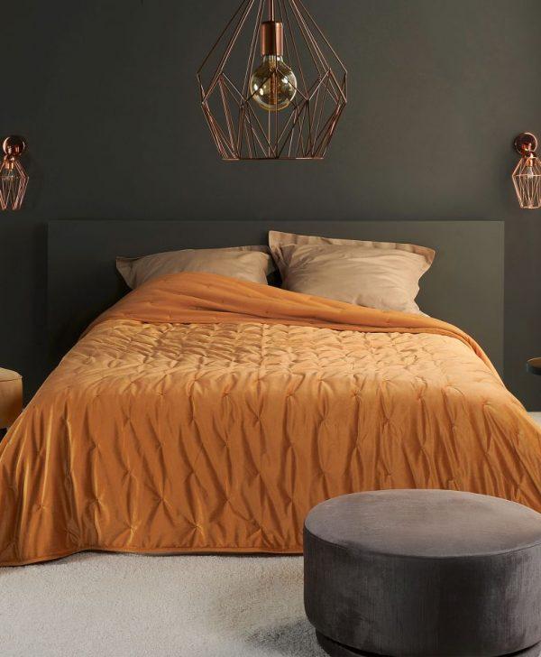 Cuvertura catifea portocalie 5109 Pandore 35 240x250 cm