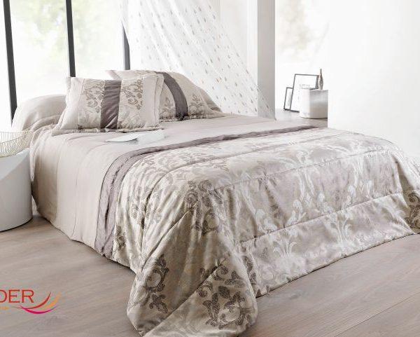 Cuvertura dormitor gri Lampas 5036 250x260 cm