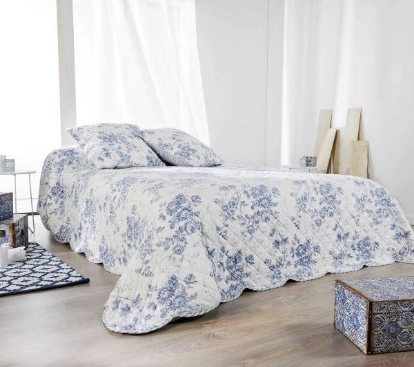 Cuvertura flori albastre 5085 Cabourg 230x250 cm