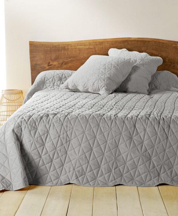 Cuvertura gri pat dormitor 5097 Toscane 230x250 cm