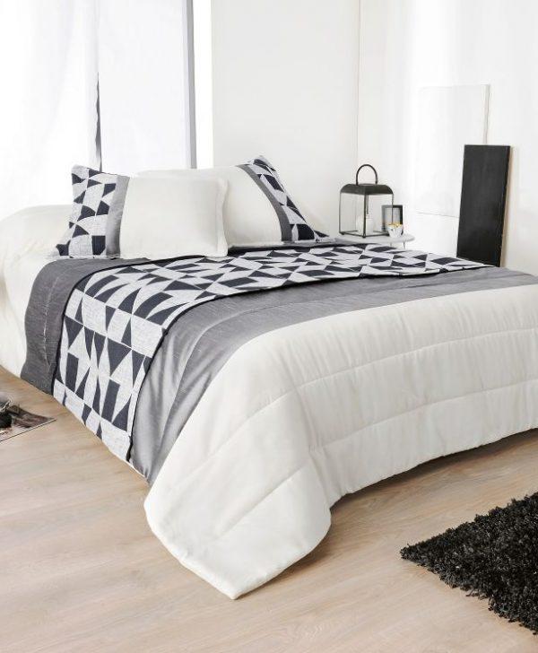 Cuvertura pat alb negru 5082 Bingo 230x250 cm