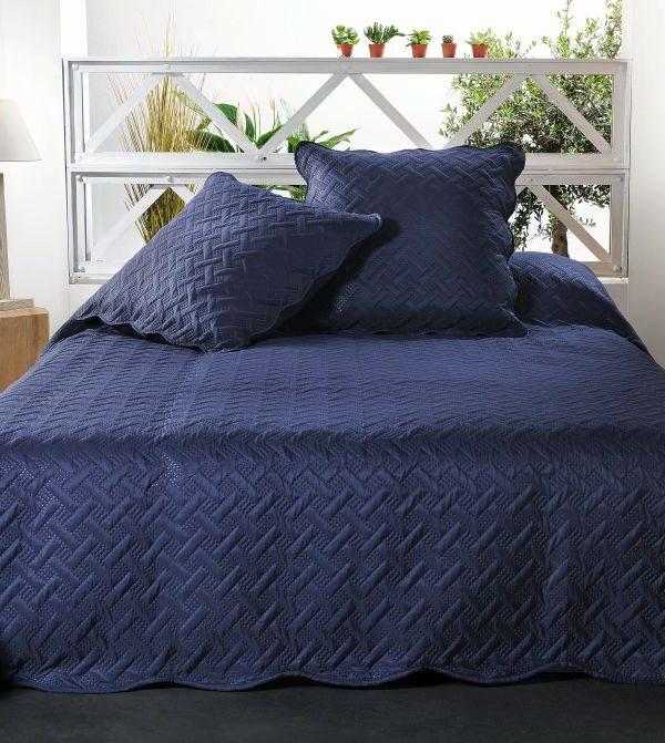 Cuvertura pat albastra 5096 Californie 230x250 cm