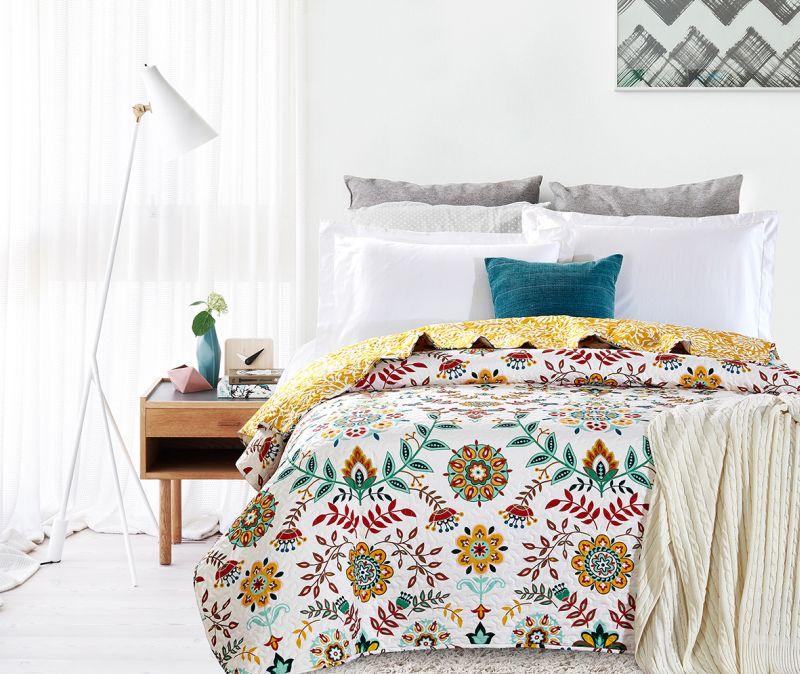 Cuvertura pat fetite flori colorate 7794 Antonella 180x270 cm