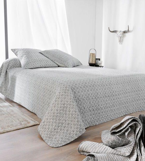 Cuvertura pat moderna gri 5080 Seville 230x250 cm