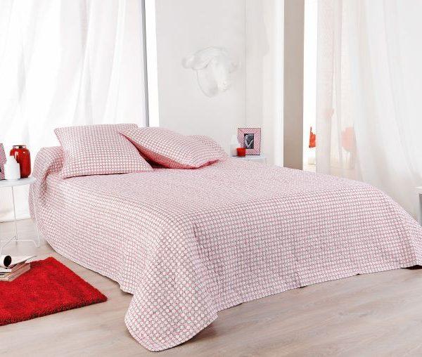 Cuvertura pat rosie alba 5060 Alicante 230x250 cm