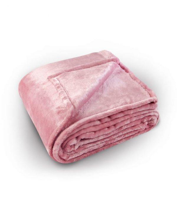 Cuvertura roz pufoasa 5074 Pilonga 220x240 cm