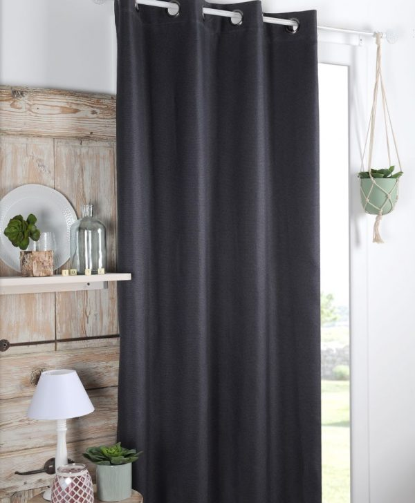 Draperie blackout confectionata Copenhague Anthracite 140x260 cm