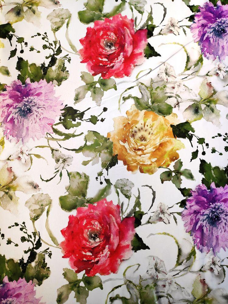 Draperie blackout flori multicolore Dim Out Abril Allov Rojo (Primavera) 300 cm