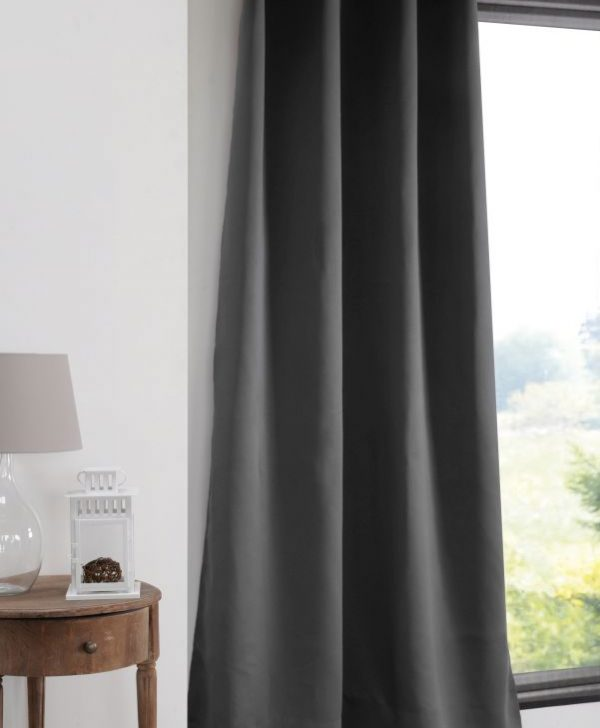 Draperie blackout gri inchis Notte Anthracite 135x250 cm