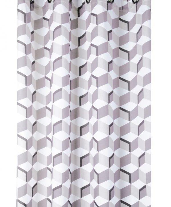 Draperie cuburi bej bumbac Stairs 135x260 cm