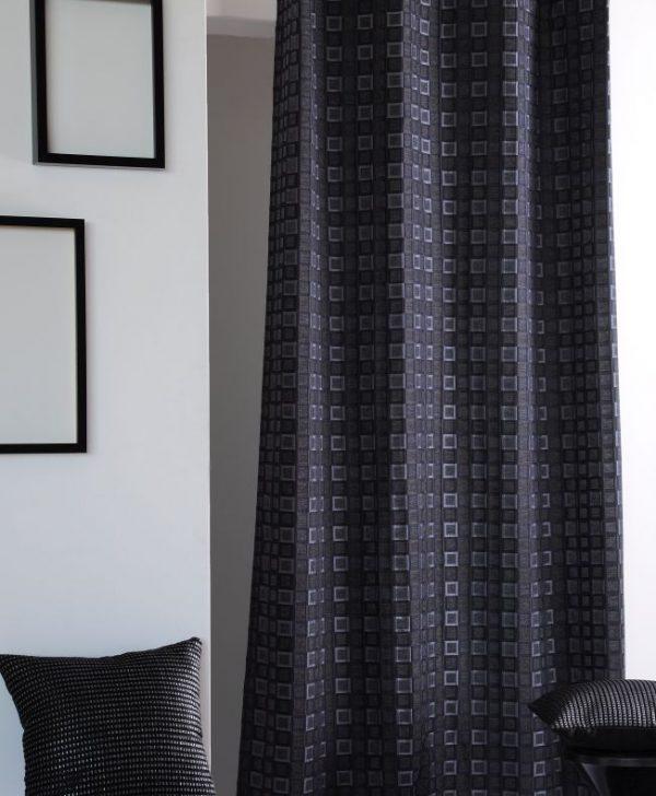 Draperie neagra moderna Futura 140x260 cm