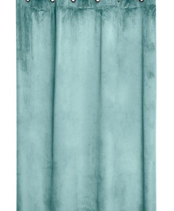 Draperie turcoaz confectionata Danae Jade 140X260 cm