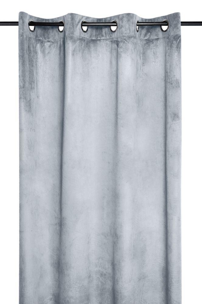 Draperiec catifea gri deschis Danae Perle 140X260 cm