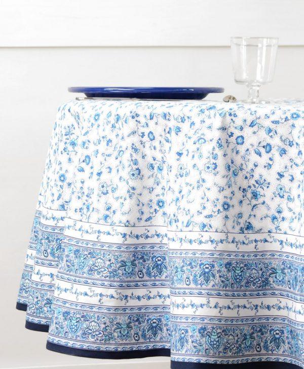 Fata masa flori albastre Gentiane Bleu Blanc diam. 180 cm