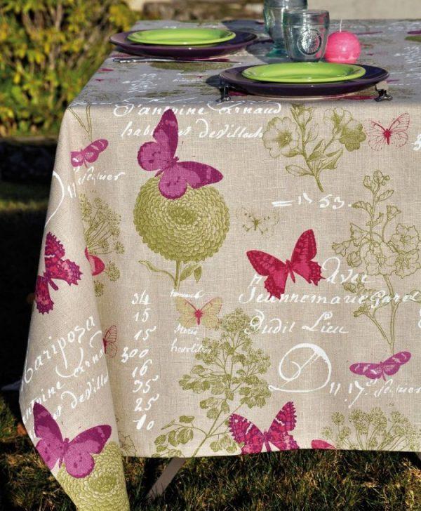 Fata masa fluturi colorati 4588 Butterfly 140x140 cm