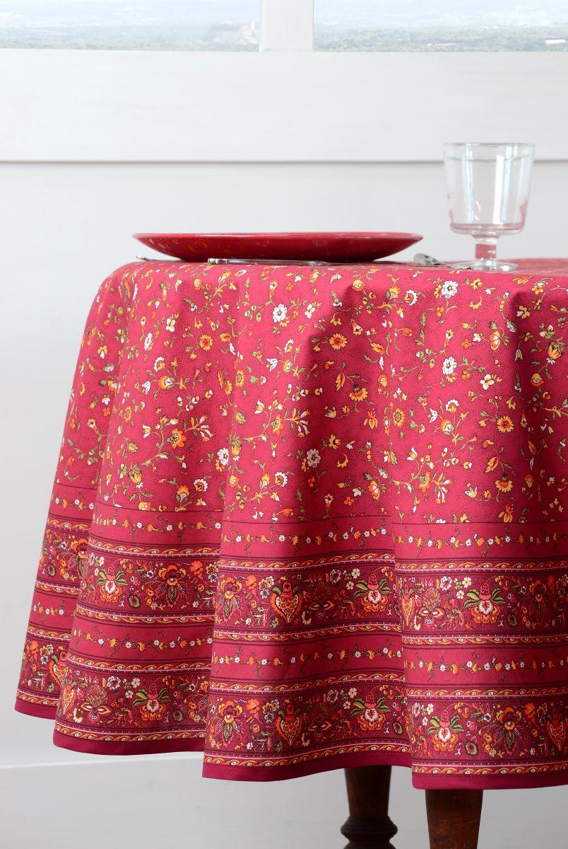 Fata masa rosie rotunda flori Gentiane Rouge diam. 180 cm