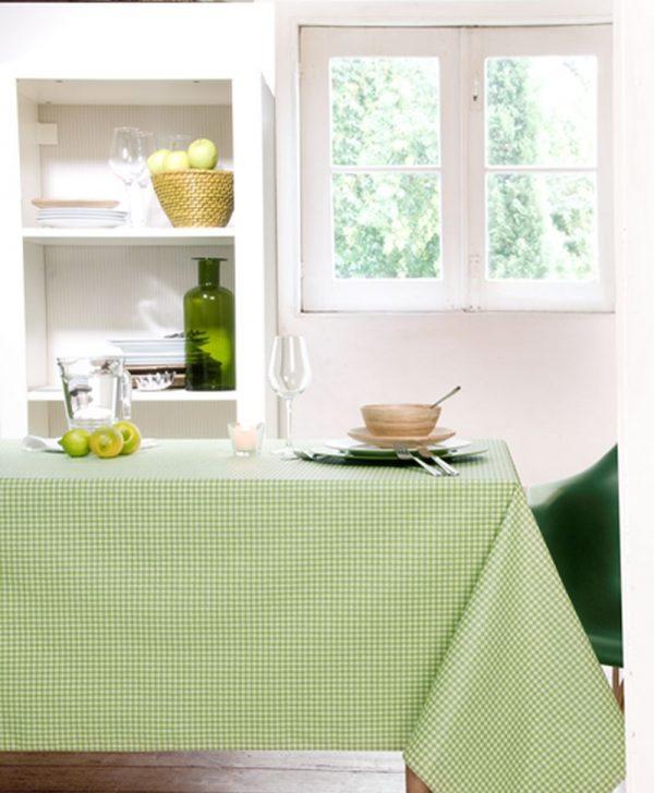 Fata masa verde carouri Vichy verde 160x160 cm