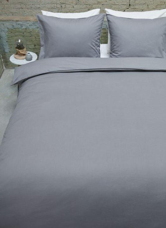 Lenjerie gri pat Basic Grey 200x200/220 cm