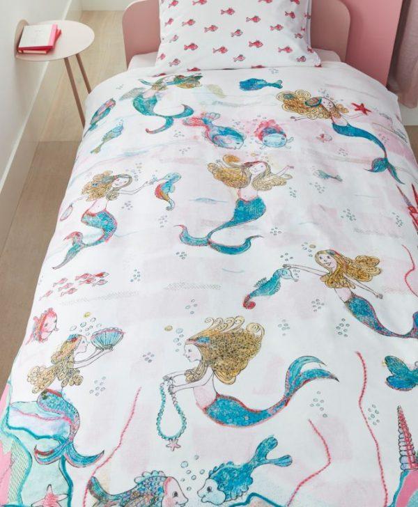 Lenjerie pat Mica Sirena Mermaids 200x200/220 cm