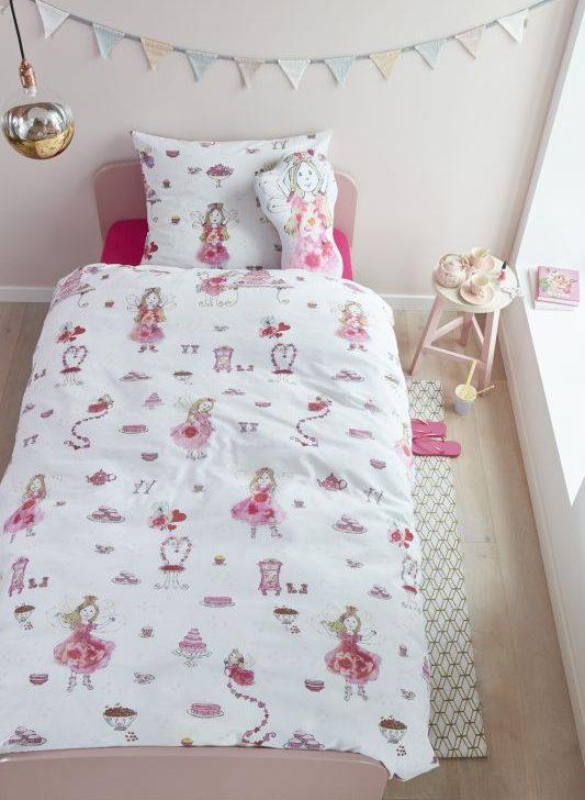 Lenjerie pat fetite zane Birthday Fairy Pink 140x200/220 cm