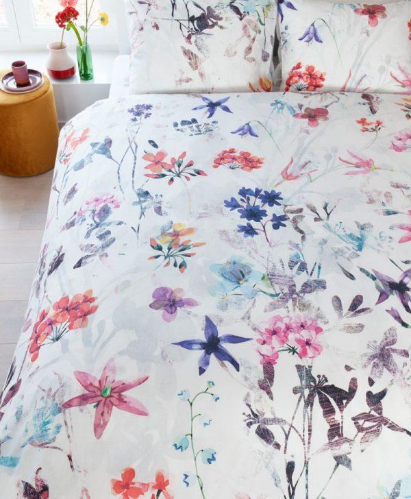 Lenjerie pat florala Sweet Flowers 200x200/220 cm