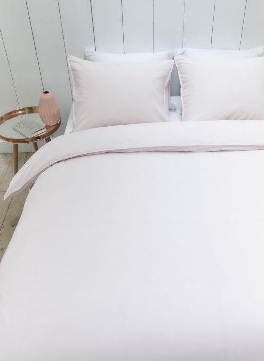 Lenjerie pat ivoire bumbac Basic Sand 200x200/220 cm