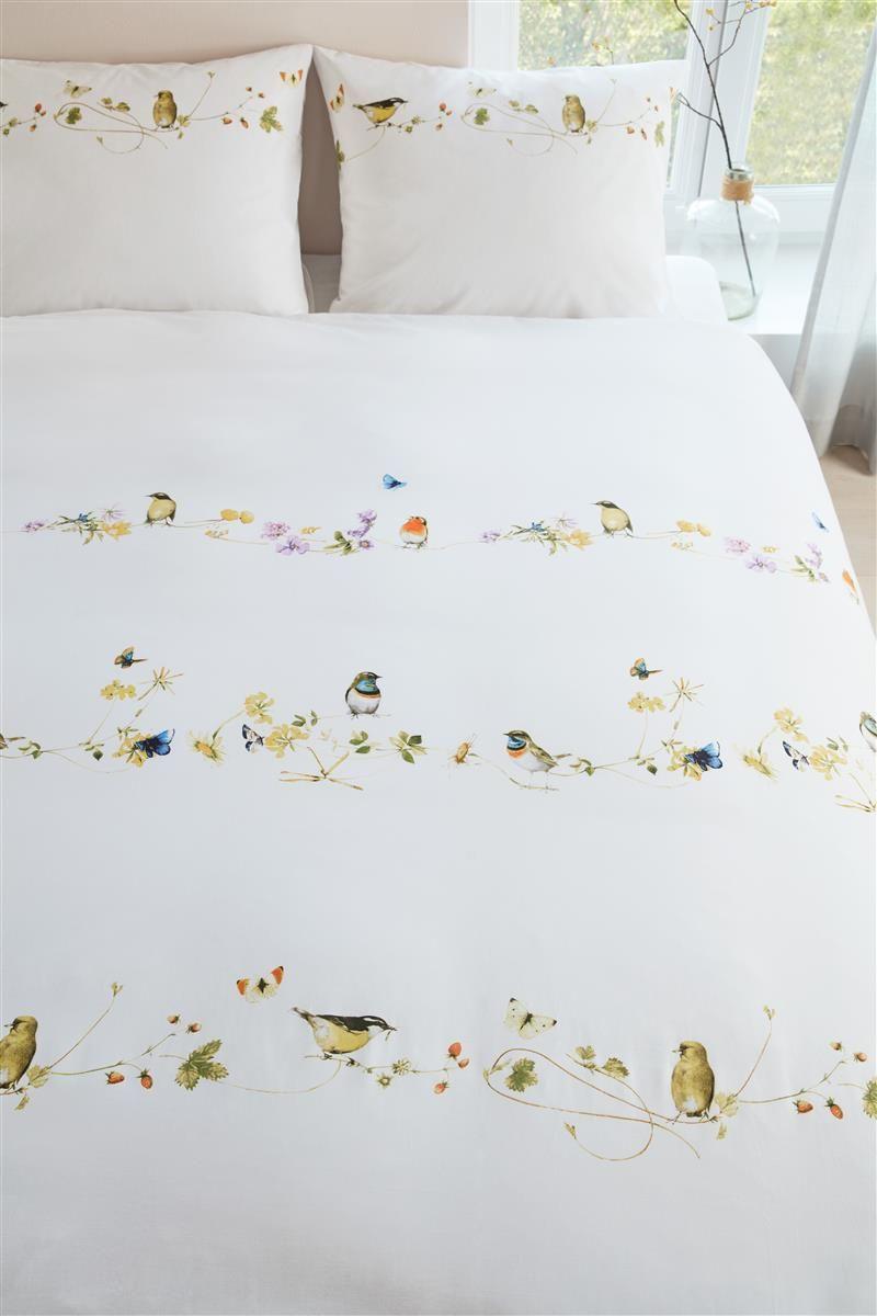 Lenjerie pat pasari flori colorate Chit Chat Multi 200x200/220 cm