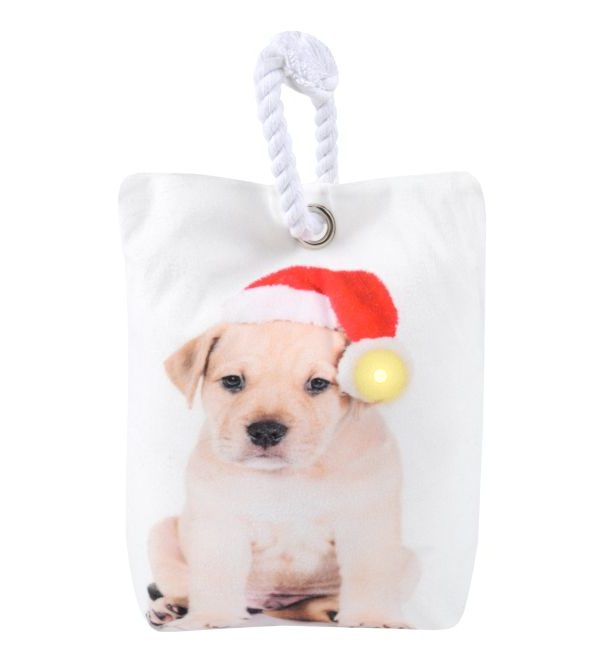 Opritor usa Craciun luminite catelus Jinglebells Chien 16x23 cm