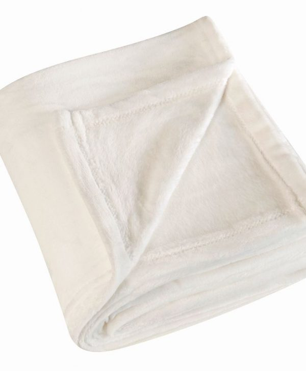 Patura alba pufoasa 5047 Cocoon Blanc 130x180 cm