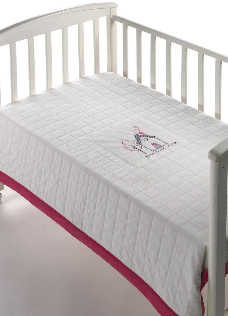Patura bebelusi rosu/alb Peques 80x110 cm