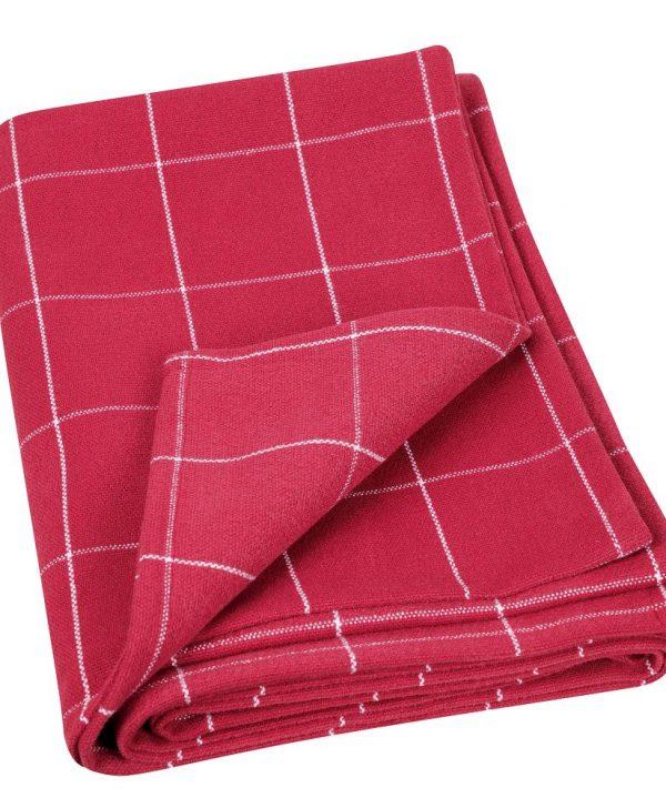 Patura carouri rosii 591 Engadine 69 140x140 cm