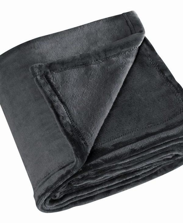 Pătură fleece neagră pufoasa Cocoon 5047 130x180 cm
