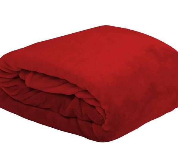 Patura rosie pufoasa 5792 Doudou Rouge 130x160 cm