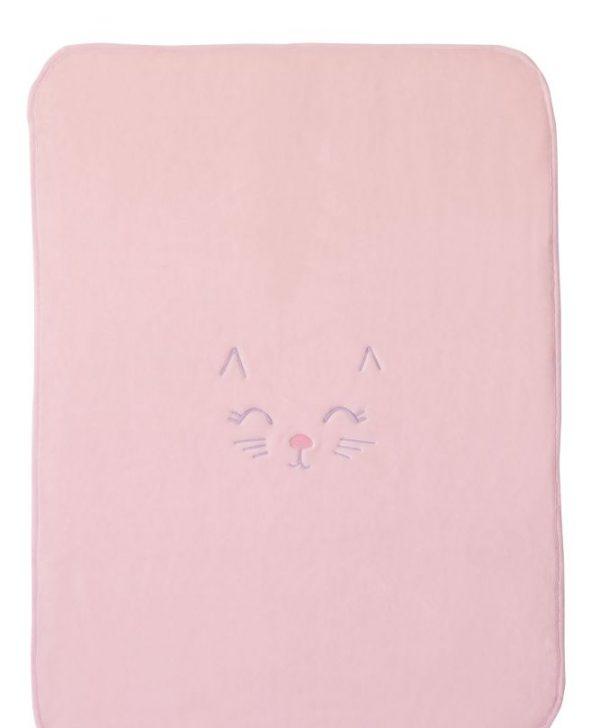 Patura roz fetite pisicuta 6277 63 Rosa 80x110 cm