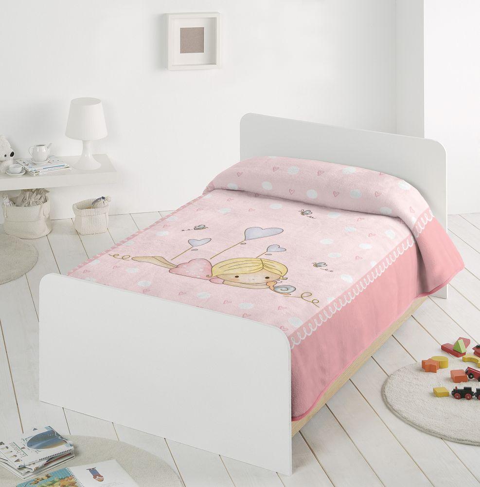 Paturica roz fetita 6377 110x140 cm