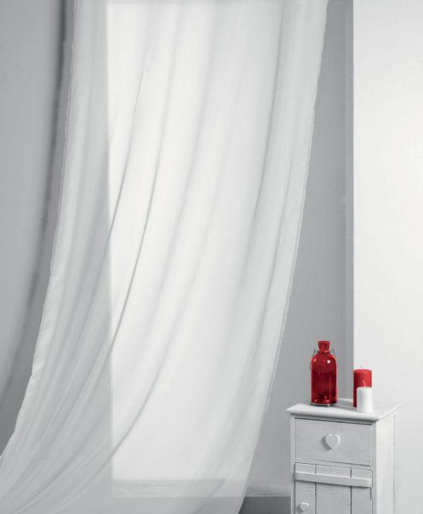 Perdea alba Lisa Blanc 135x260 cm