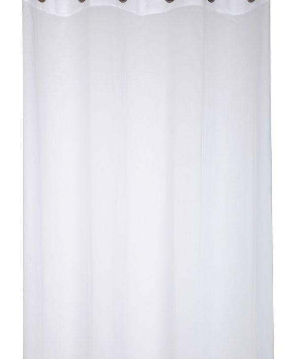 Perdea bumbac alba Aube Blanc 140x260 cm